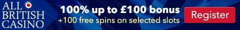 All British Casino banner