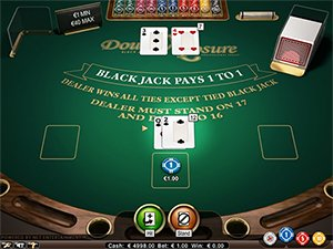Blackjack Double Exposure Screenshot