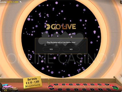 Roulette First Person go live